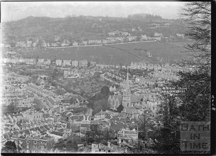 View of Widcombe from Beechen Cliff April 1950