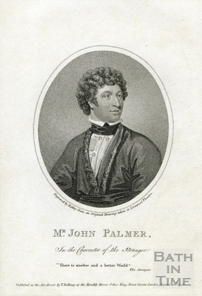 John Palmer Jr c.1742-1798, actor in the character of The Stranger 1798