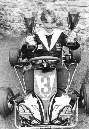 A young Jenson Button kart star aged 11, 20 June 1991