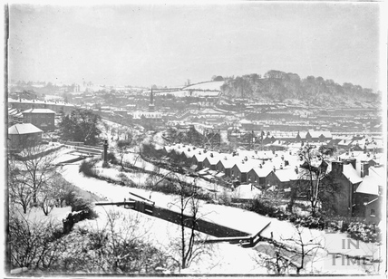 View from Sydney Buildings in the snow, 25 April 1908
