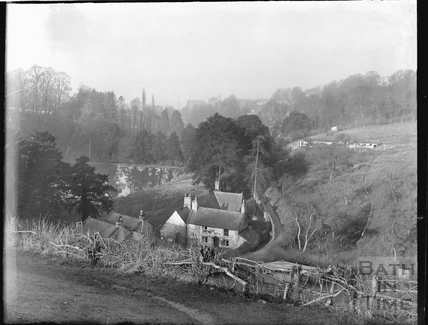 Cottages in the Dell, Widcombe, c.1921