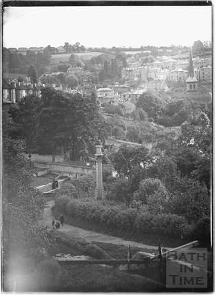 View of the Kennet and Avon Canal from Sydney Buildings, Bath c.1920