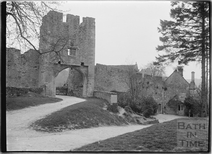 Gateway to Farleigh Castle, Farleigh Hungerford, c.1931