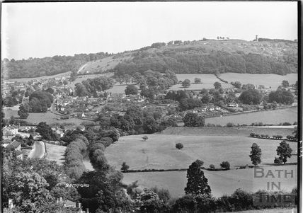 View of Bathford from the Cliffs, 7 June 1939