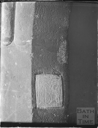 Extremely early stone carving, Kelston Church c.1930s