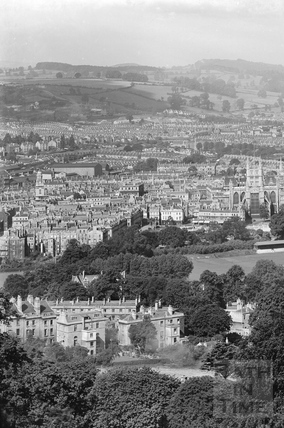 View of Bath from Beechen Cliff No.7 c.1920 - detail