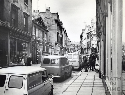 View up Broad Street towards King Edwards School c.1966