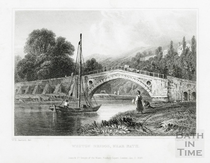 Weston (Newbridge) Bridge, near Bath 1830