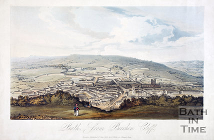 Bath from Beechen Cliff 1827