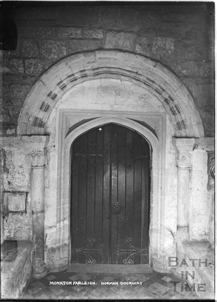 Monkton Farleigh, Norman Doorway c.1920s