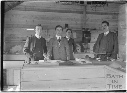 Post Office workers and colleagues to the photographer c.1905