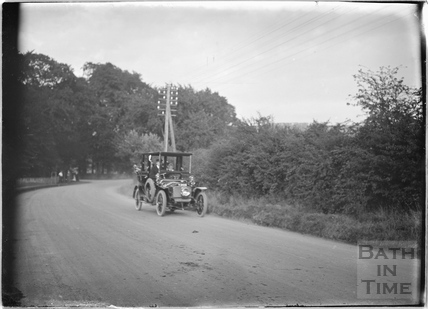 Chauffeur driven car, Box Road, Sept 25th 1913
