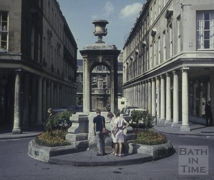 Bath Street and Mineral Water Fountain, Bath 1960s