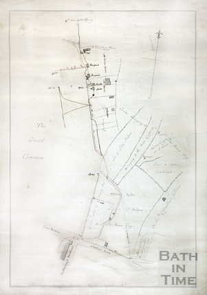 Plan of the water course from St. Winifred's Well June 6th 1786