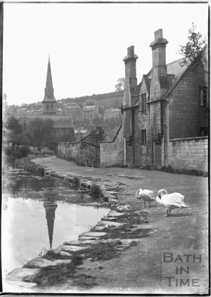 Beside the Kennet and Avon Canal, Widcombe, Bath c.1920