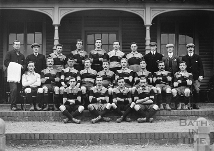B.F.C. Team photo. Is this an early shot of Bath Rugby? c.1910s