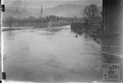The Dolemeads in flood 1932
