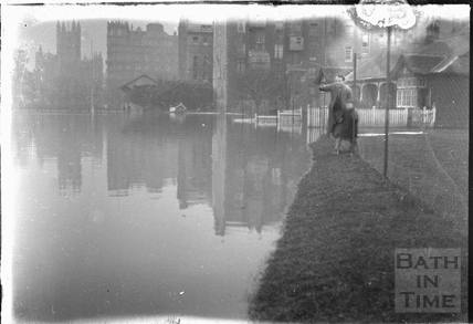 The Recreation Ground in flood 1932