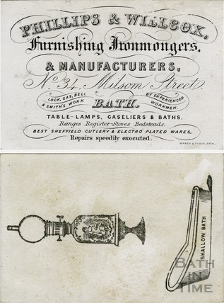 Phillips & Willcox, furnishing Ironmongers & Manufacturers 34 Milsom Street c.1840s