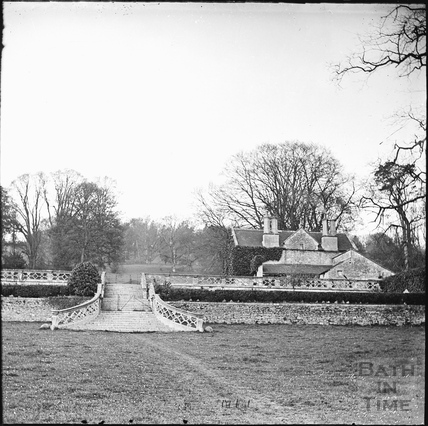 The steps leading to the old demolished Claverton Manor c.1890s
