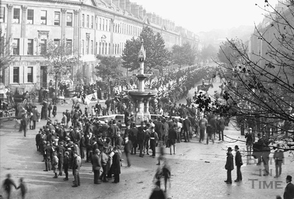 Gathering at Laura Place and Great Pulteney Street c.1890 - detail