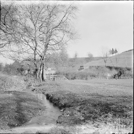 Unidentified rural scene with stream c.1890s