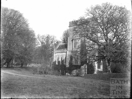 The remains of Fonthill Abbey, former home of WIliam Beckford, Fonthill Gifford, Tisbury, c.1920s
