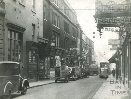 The Angel Hotel and Westgate Street, Bath c.1930