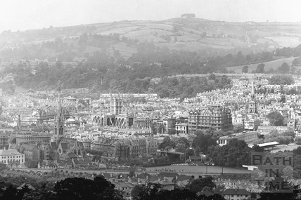 View of Bath from Widcombe Hill c.1937 - detail