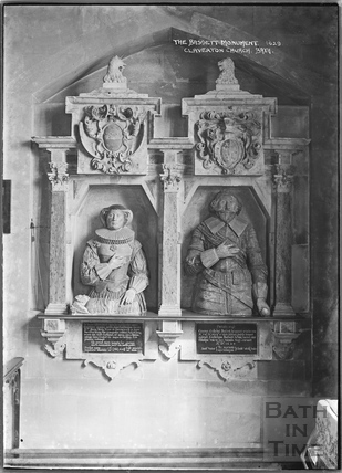 The Bassett Monument - 1629, Claverton Church c.1938