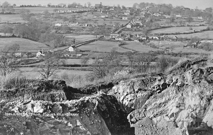 Holcombe near Radstock from Moon's Hill Quarry c.1920s