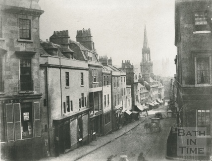 View down Broad Street from George Street, Bsth c.1858