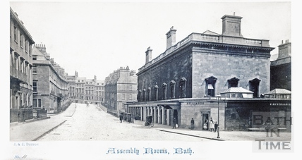 The Assembly Rooms from Bennet Street, Bath c.1865