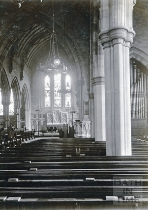 Interior of St Andrews Church, Julian Road c.1890