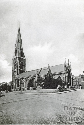 St Andrews Church, Julian Road, Bath, viewed from the west c.1910