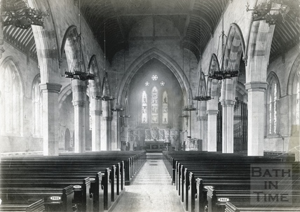 Interior of St. Andrew's Church, Julian Road, Bath, c.1890