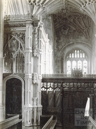 Prior Bird's Chantry chapel, Bath Abbey c.1900