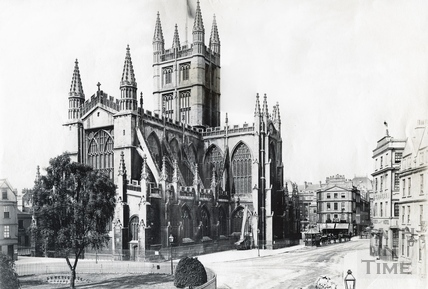 Abbey Church, North East view with Orange Grove c.1885