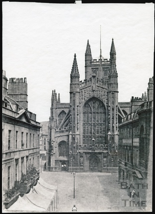 Bath Abbey west front c.1853-1861