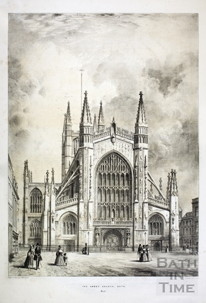 Abbey Church, Bath, west c.1840