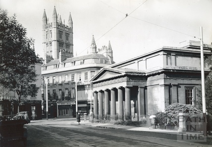 The Bath Royal Literary & Scientific Institute at the end of York Street c.1920s