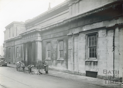 The Bath Royal Literary & Scientific Institute west elevation on Terrace Walk c.1920s