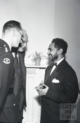 Emperor Haile Selassie at an official function in Bath c.1936