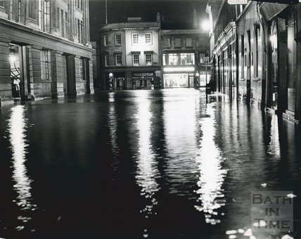 Flooded Dorchester Street, Southgate, July 1968