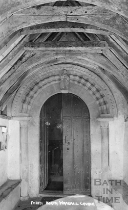 Porch, North Wraxall Church c.1910