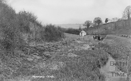 The Somersetshire Coal Canal, Southstoke, nr Midford c.1905