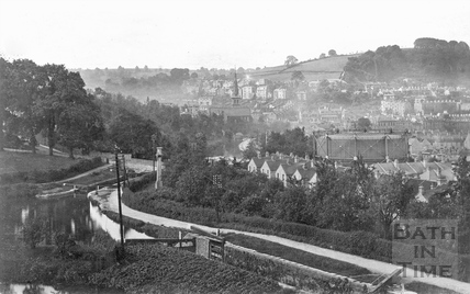 Widcombe general view from Sydney Buildings with canal c.1920