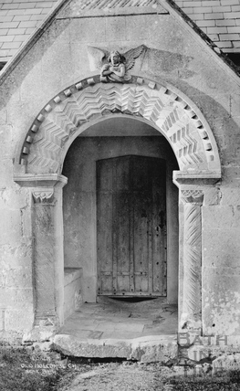 Porch, Old Holcombe Church, near Bath c.1910