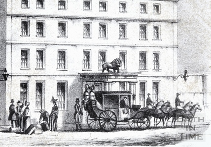 The White Lion Hotel, High Street c.1840 - detail