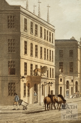 The White Lion Hotel, High Street, Bath 1804 - detail